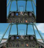 CFS2 default aircraft wide screen panels