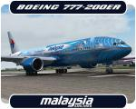 """Posky Boeing 777-200ER Malaysia """"Heliconia - Freedom of Space"""" Livery"""