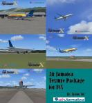 FSX Air Jamaica Texture Pack for the A321, 737, and MD-83