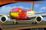 """Boeing 777-200 v2 Continental Airlines edition """"Peter Max"""""""