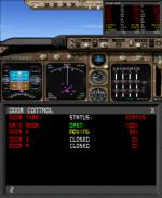 FS9 / FSX Fuel Data and Door Control Gauge.