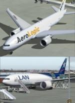 FSX/P3D Boeing 777-200F LAN Cargo & AeroLogic twin aircraft package