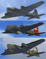 FSX Boeing B-17G Flying Fortress - Penta-pack - Textures only.