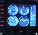Saitek  Pro Flight Instrument Panel Beech Baron engines gauge