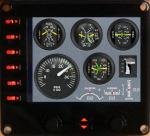 Cessna 172 analogical engine panel for FIP