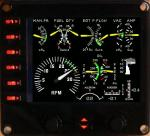 Cessna 172 digital engine panel for FIP