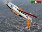 "Republic F-84F ""Getti Tonanti"" (Italian Air Force Acrobatic Team)."