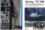 FSX                   Manual/Checklist Boeing 737-200.