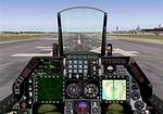 FS2004                   F-16 D/B Twin Seat New panel for Kirk Olsson's new Twin Seat                   F-16's