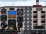 IFR                     Beechcraft KingAir panel.
