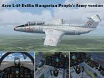 FS2004/FSX L-29 Delfin Hungarian People's Army Textures