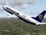FS2004                   Boeing 737 RyanAir Pride of Scotland Textures only.