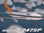 """FS2004                   Project Opensky Boeing 747SP South African Airways ZS-SPE """"Hantam""""                   wearing the""""Springbok"""" scheme as she appeared in the                   early 90's"""