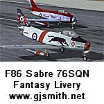 F86 Sabre 76SQN RAAF 50th Fantasy Textures