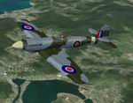 FSX                     WW2 fighter Spiteful Mk XVI: