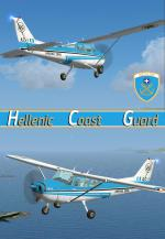 FSXA Cessna C172 Hellenic Cost Guard photoreal package with added views.