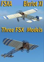 FSX Bleriot XI Hellenic Army Triple Livery Package