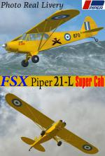 FSXA/FS9 Piper PA 21-L Super Cub Hellenic Army Photoreal Package.