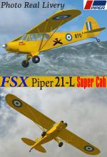FSXA/FS9 Piper PA 21-L Super Cub Hellenic Army Photoreal Package.