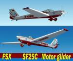 """FSX/Scheibe SF 25 C-Falke Motor Glider """"D-KBW""""Agrinion Aeroclub Package."""
