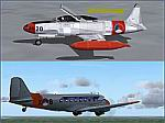 FS2004                   Dutch T-33 and C-47 AI Package.