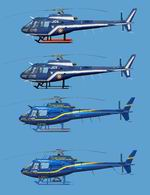 FS2004                   Ecureuil AS 350BA Photorealistical Textures Pack