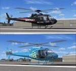 "AS350 Squirrel KTLA-TV 5 Los Angeles and KTTV-TV Fox 11 Los Angeles ""SkyFox""  twin pack"