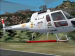 FS2002                   Aerospatiale AS350 Private: REMY-THE-BAR, Textures only.