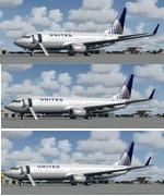 FSX/P3D Boeing 737NG United Airlines 3 Aircraft Package