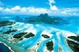 FS2002                   Bora Bora Hotels and Town, Island of Bora Bora, French Polynesia
