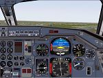 FS2000                   High realistic panel for the DC 9, Co-pilot view