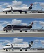 Bombardier CRJ-701 US Airways Express 3 livery package