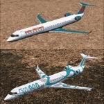 FS2004                     Bombardier/Canadair CRJ900-ER Factory Demonstrator Livery.