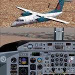 FS2004                   PAD Dehavilland Dash8-Q202 America West Express N447YV &                   United Express N454YV Package.