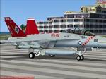 FS2004/FSX                   F/A-18F VFA-102 CAG Diamondbacks textures Only