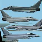 FS2004/2002                   Eurofighter Minimal Collection.