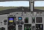Fokker-100                     panel for FS2000