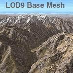 FS2004                   Himalayas LOD9 Base Mesh - Hindu Kush
