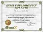 Instrument Rating Certificate Cheat
