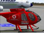 FS2004                   MD 500E Hungarian RTL Klub Television old colors Textures only
