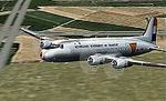 FS2002                   DC-4/C-54 in NETHERLANDS GOVERNMENT AIR TRANSPORT 1945 livery                   and markings