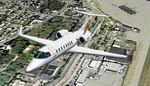 FS2004                   Learjet 45 with Orange Stripes.
