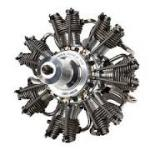 Single Engine Pratt & Whitney R-985 Wasp Junior Radial Engine