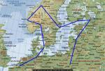 FS2004 North Sea Europe Flight Plans in Spanish