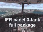 FS2004                   DC-3 Bare Metal Aircraft, IFR Panel, 3-Tank Full Package