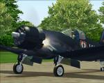 Spike's F4U-7 Corsair with Engine Fire Effects (Revised)