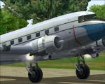 Spike's DC-3 with Engine Fire Effects