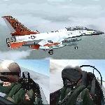 FS2004                   2-Seater Gmax F-16 Viper Edwards Test Center.