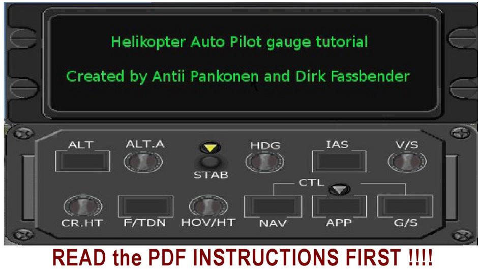 Simviation Forums • View topic - HAP FSX Helicopter Autopilot Gauge